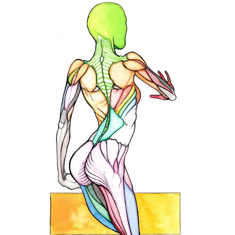 794x794 Lone Original Colorful Watercolor Drawing Sketch Human Etsy