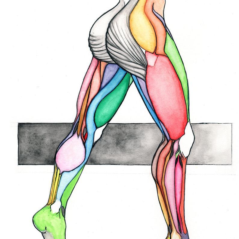 794x794 Precision Original Colorful Watercolor Drawing Sketch Human Etsy