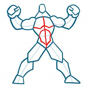 302x302 How To Draw Muscles, Step