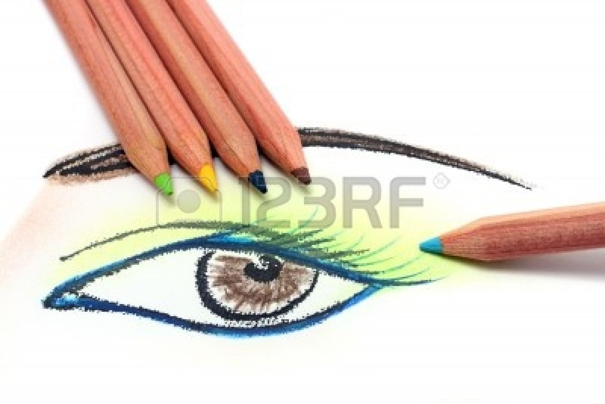 1200x801 Drawing And Coloring Human Eye