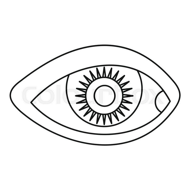 800x800 Human Eye Icon Outline Illustration Stock Vector Colourbox