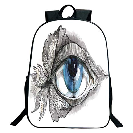 466x466 Print Design Black School Bag,backpackseye,abstract