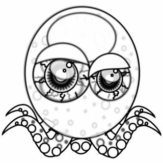 320x320 Crazy Eye Drawing