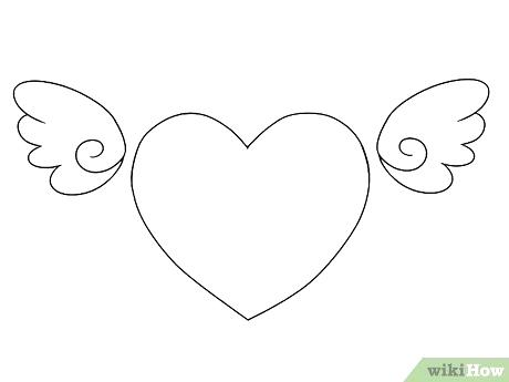 460x345 Drawing Of Hearts With Wings How To Draw A Simple Heart Drawing