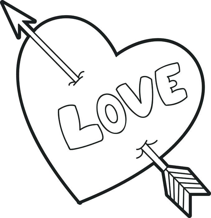 678x700 Simple Heart Coloring Sheets Astonishing Printable Human