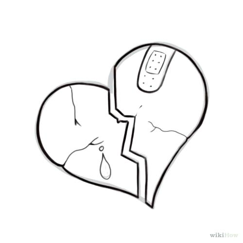 500x500 drawings broken heart broken heart drawings step