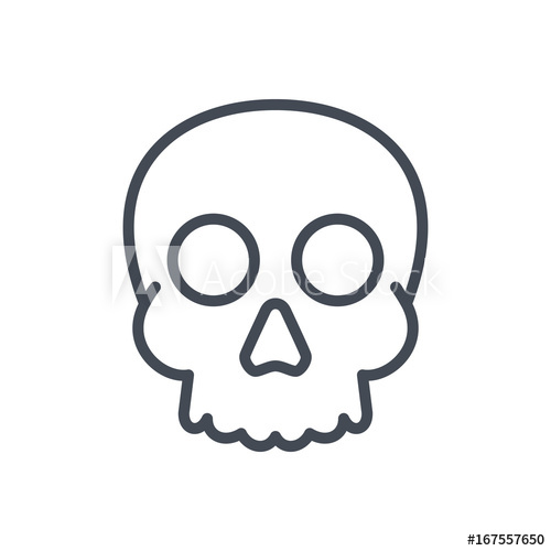 500x500 Halloween Holiday Line Icon Human Skull