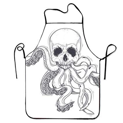 425x425 Vector Illustration Of A Human Skull With Tentacles