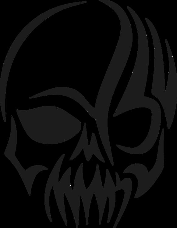 581x749 Human Skull Symbolism Tattoo Tribe Drawing Cc0