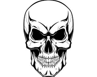 340x270 Skull Illustration Etsy