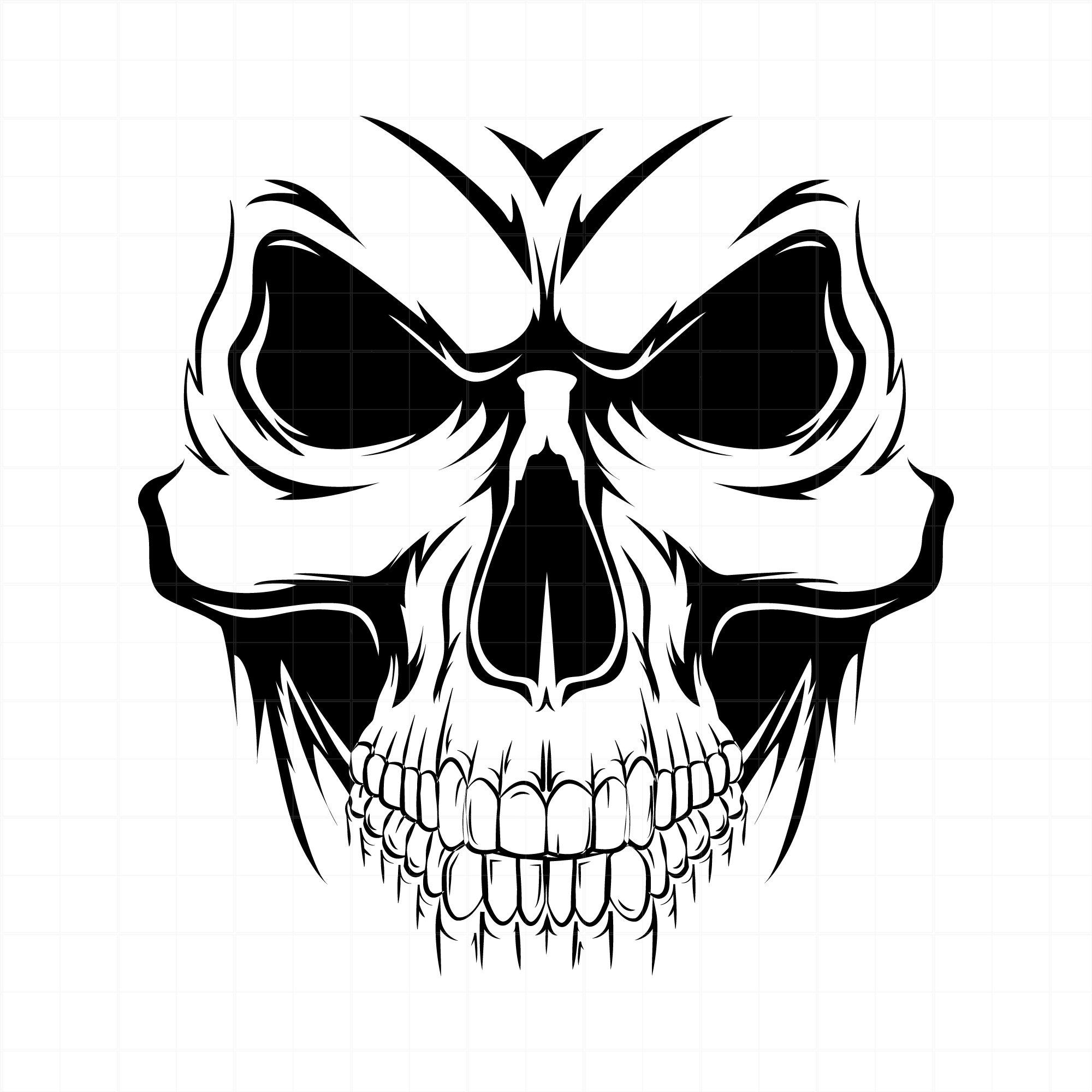 2000x2000 Skull Human Skull Vector Image Clip Art For Vinyl Etsy