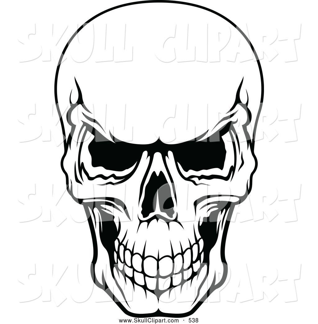 1024x1044 Scary Scull Clip Art Vector Clip Art Of A Frightening Black