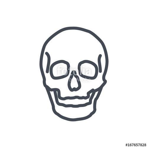 500x500 Bones Line Icon Human Skull Stock Image And Royalty Free Vector