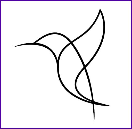 512x501 Drawn Hummingbird Easy