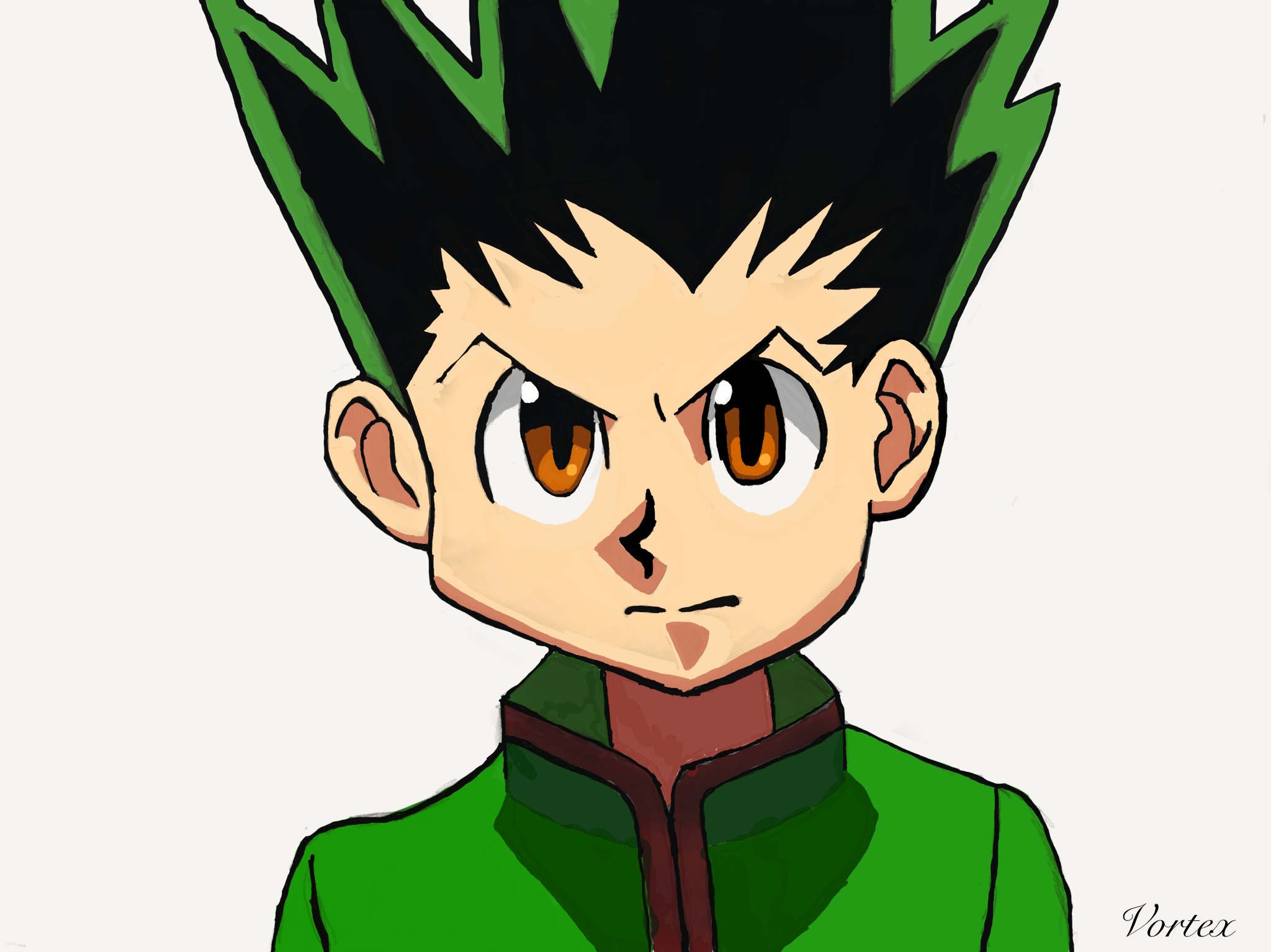2048x1535 drawing of gon from hunter x hunter