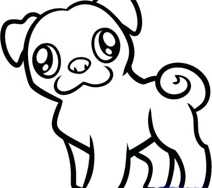678x600 easy puppy drawings puppy drawing easy drawing cartoon of puppy