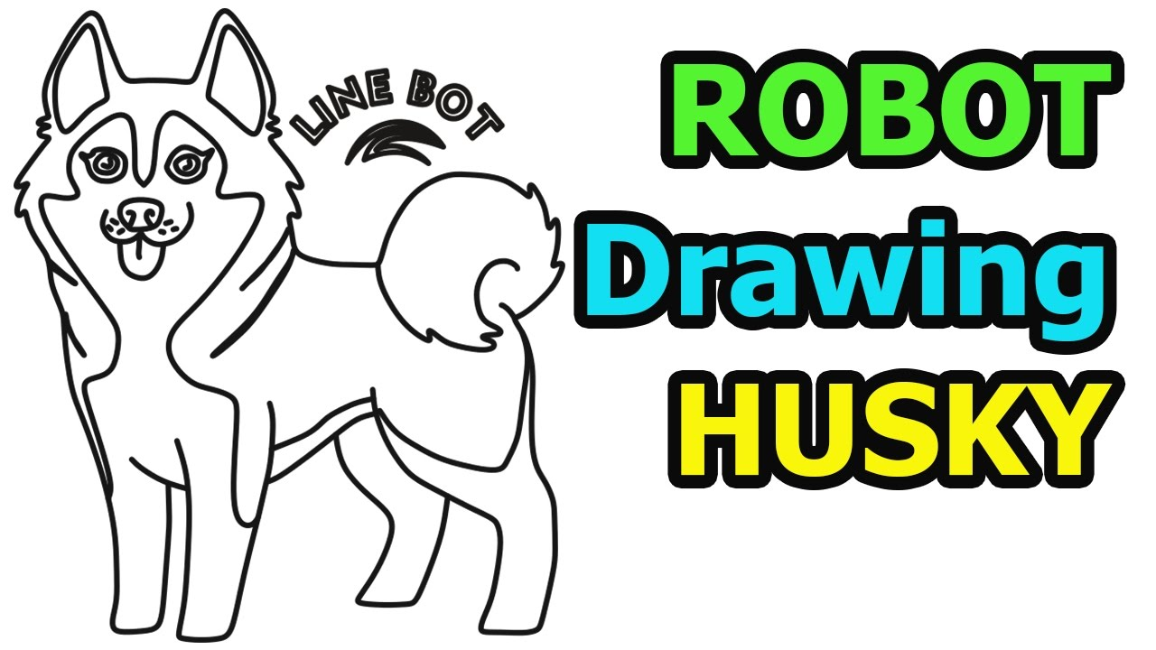 Husky Cartoon Drawing | Free download on ClipArtMag