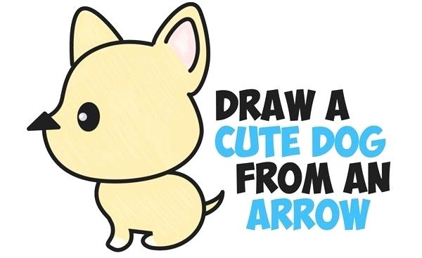 600x367 drawings of cute dogs how to draw a cute dog draw cute dog easy