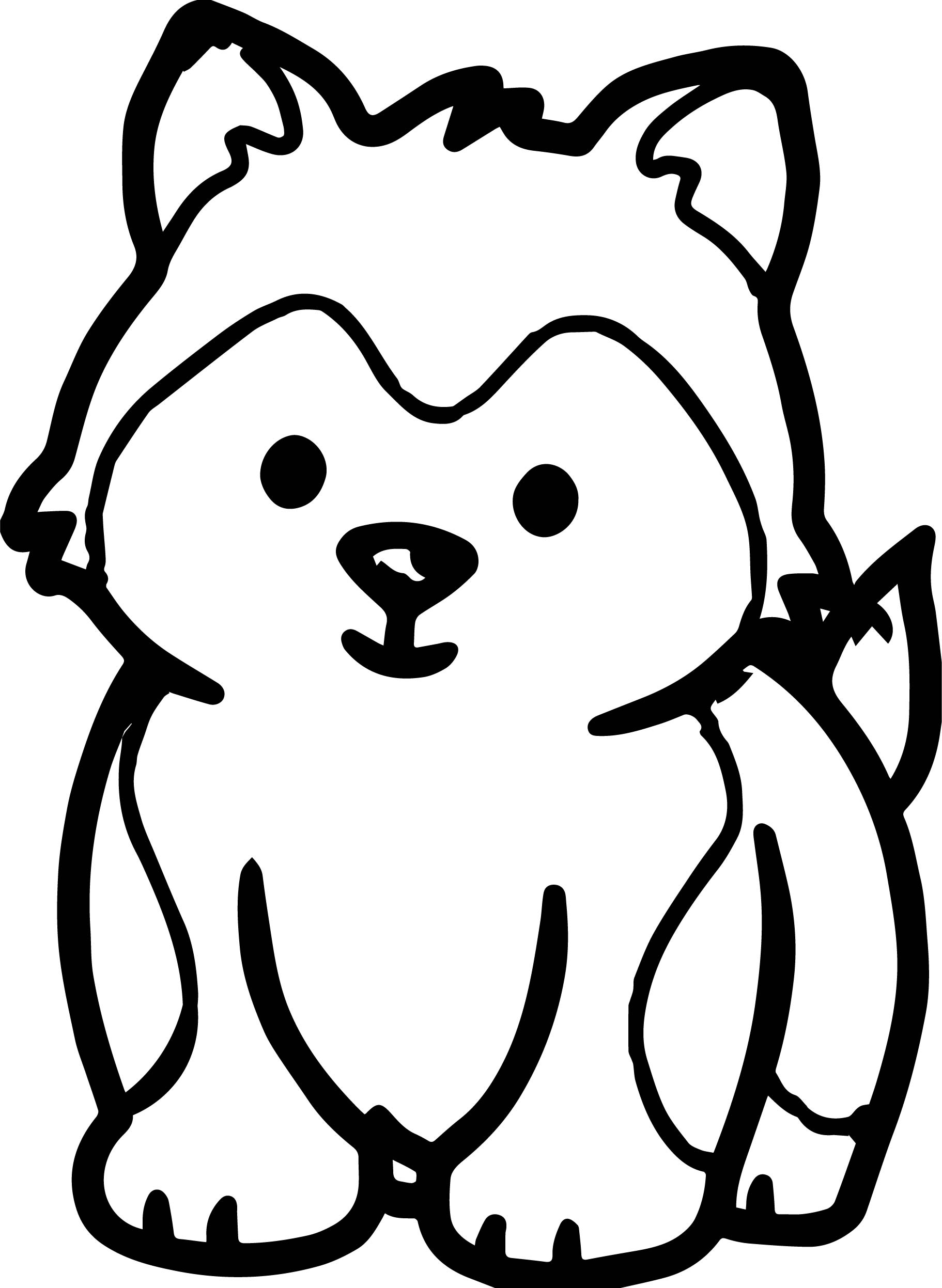 Husky Puppy Drawing | Free download on ClipArtMag