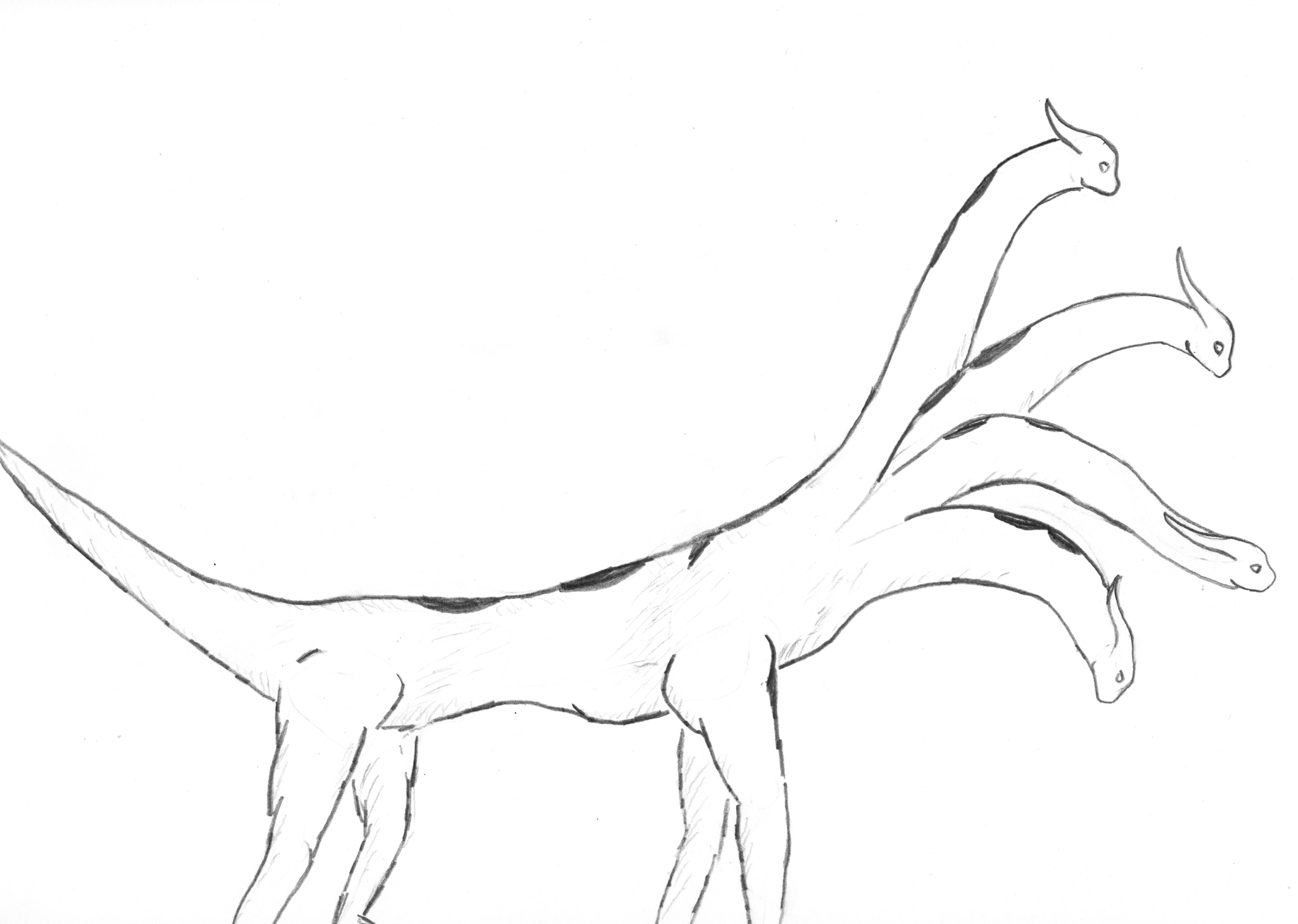 Hydra Dragon Drawing