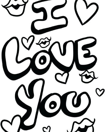 400x500 I Love You Coloring Pages For Girlfriend Drawn Owl Love Drawing I