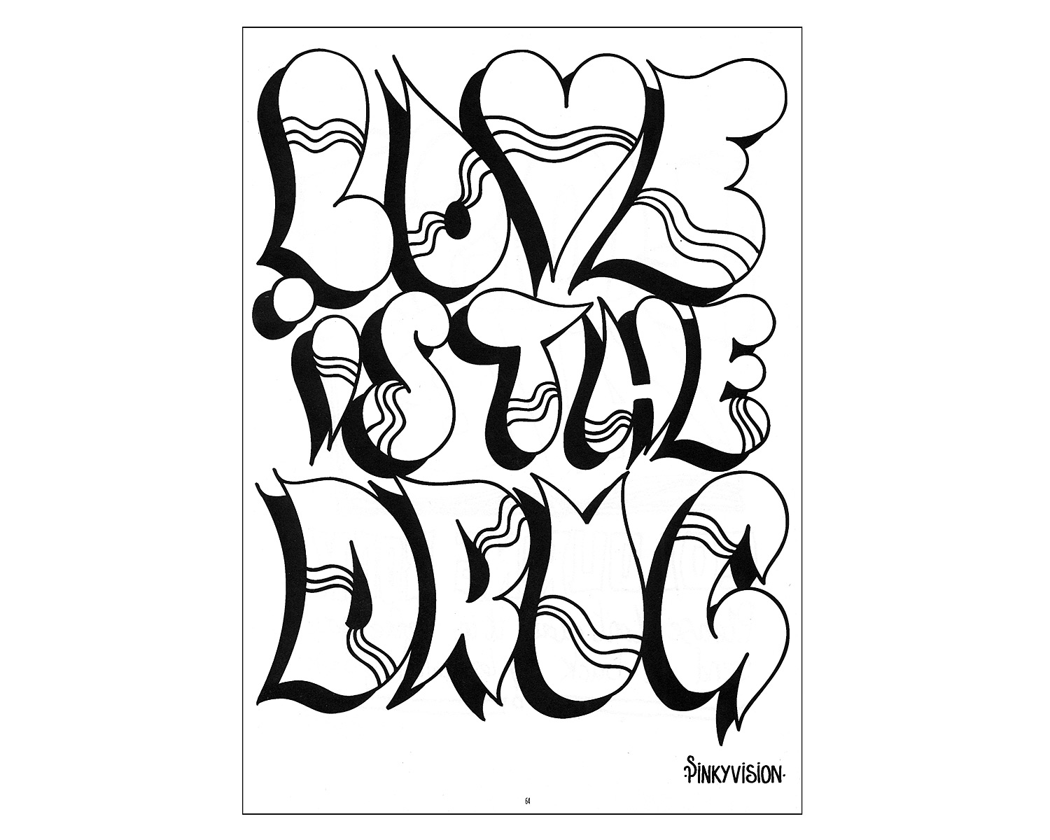 1500x1200 I Love You Graffiti Coloring Pages