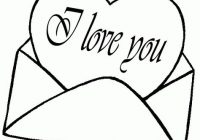 200x140 Coloring Pages That Say I Love You
