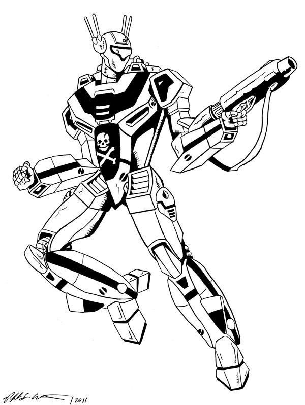 I Robot Drawing