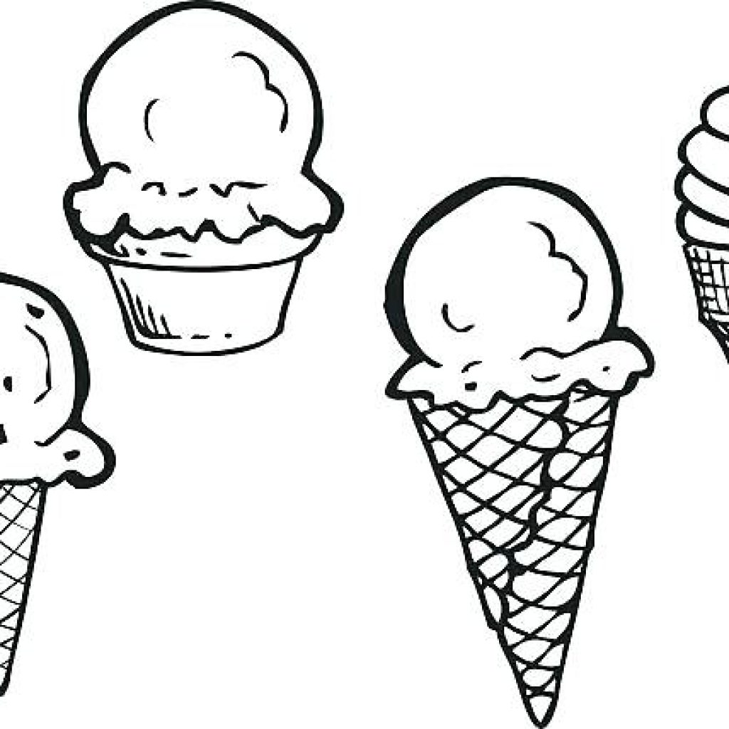 1024x1024 Ice Cream Clipart Black And White Clipart Free House Clipart