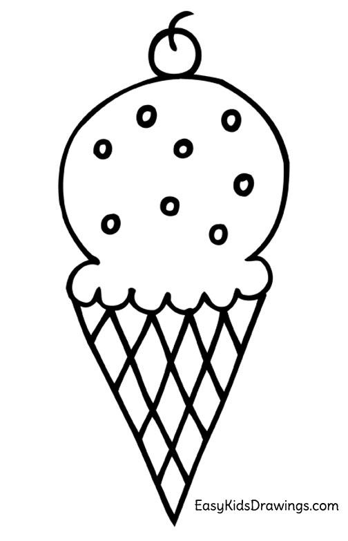 504x783 Ice Cream Drawings Easy