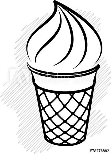 361x500 Ice Cream Black And White Decor