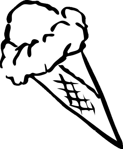492x593 Ice Cream Shop Transparent Black And White Huge Freebie