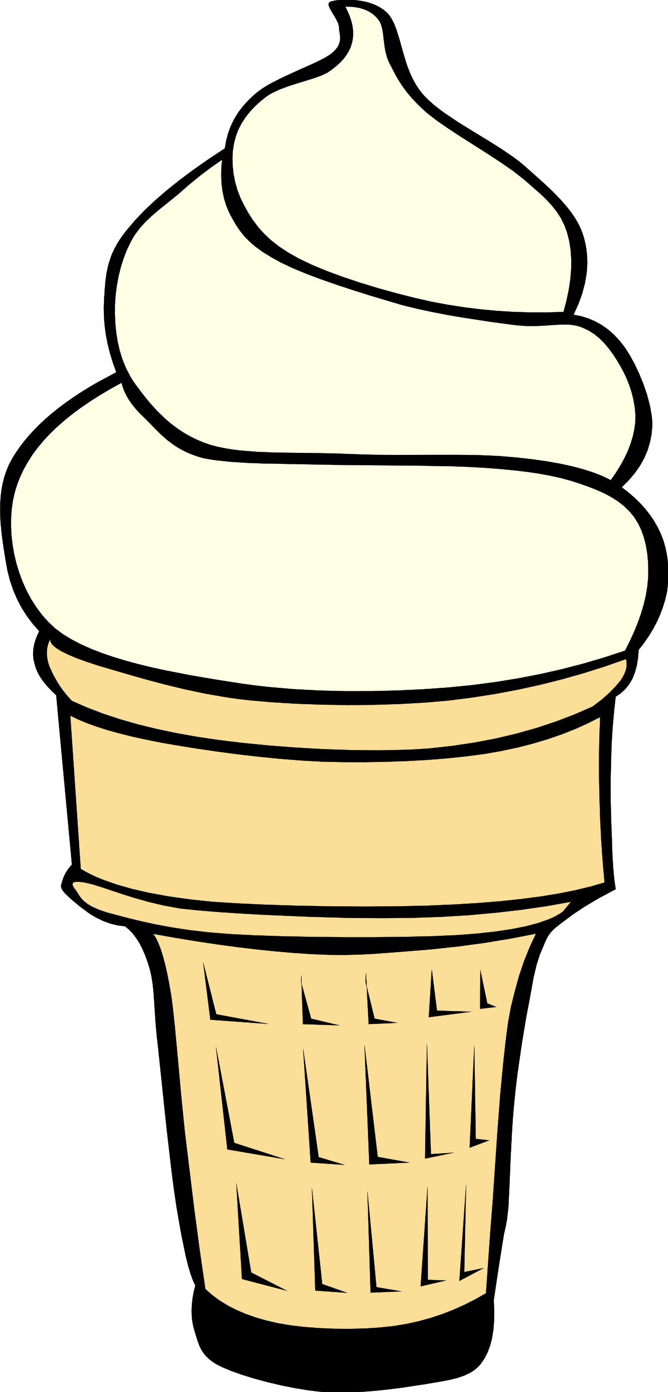 1331x2773 Ice Cream Black And White Melting Ice Cream Cone Clipart Black