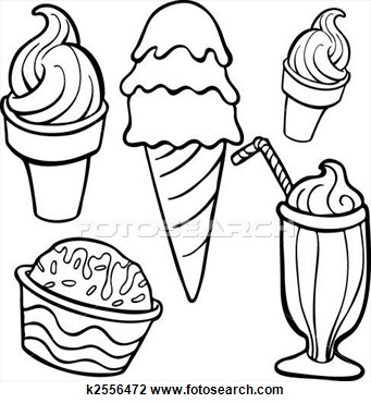 341x370 Ice Cream Black And White Photos Of Ice Cream Cup Drawing Bowl