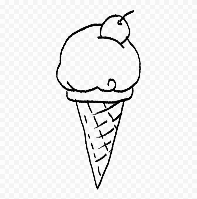 840x846 sketch of ice cream cone inspirational icecream cone drawing