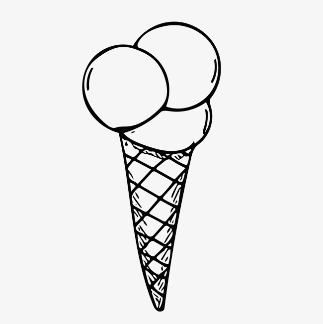 650x651 Sketch Summer Ice Cream Vector Image