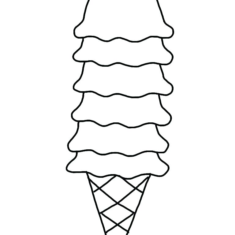 768x768 Ice Cream Coloring Pages Ice Cream Cone Coloring