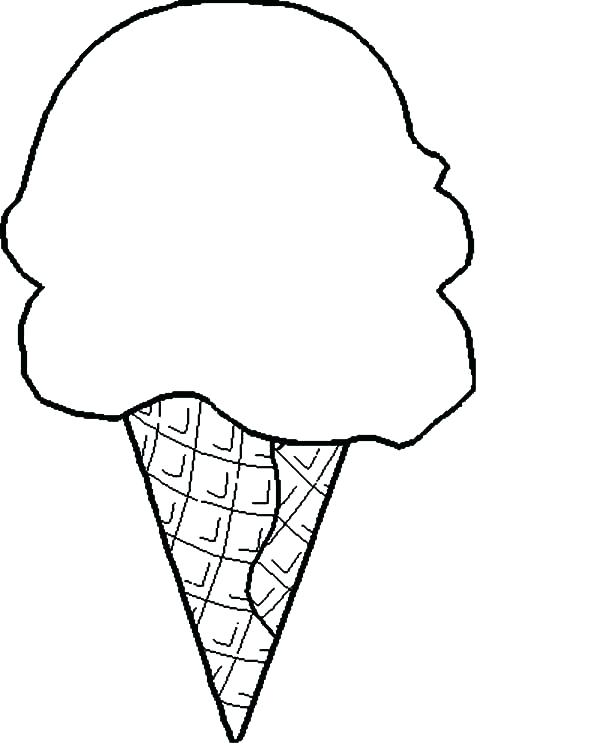 600x750 Ice Cream Cone Coloring