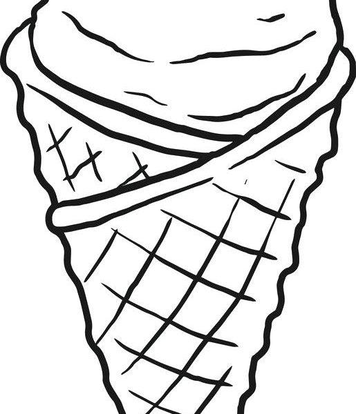 515x600 Images Of Ice Cream Cones To Color Free Printable Ice Cream