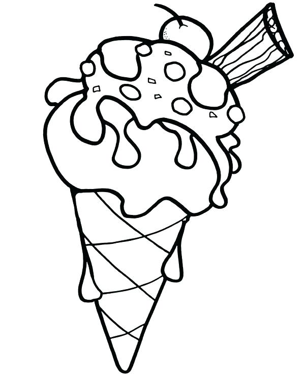 Ice Cream Cone Line Drawing Free Download Best Ice Cream