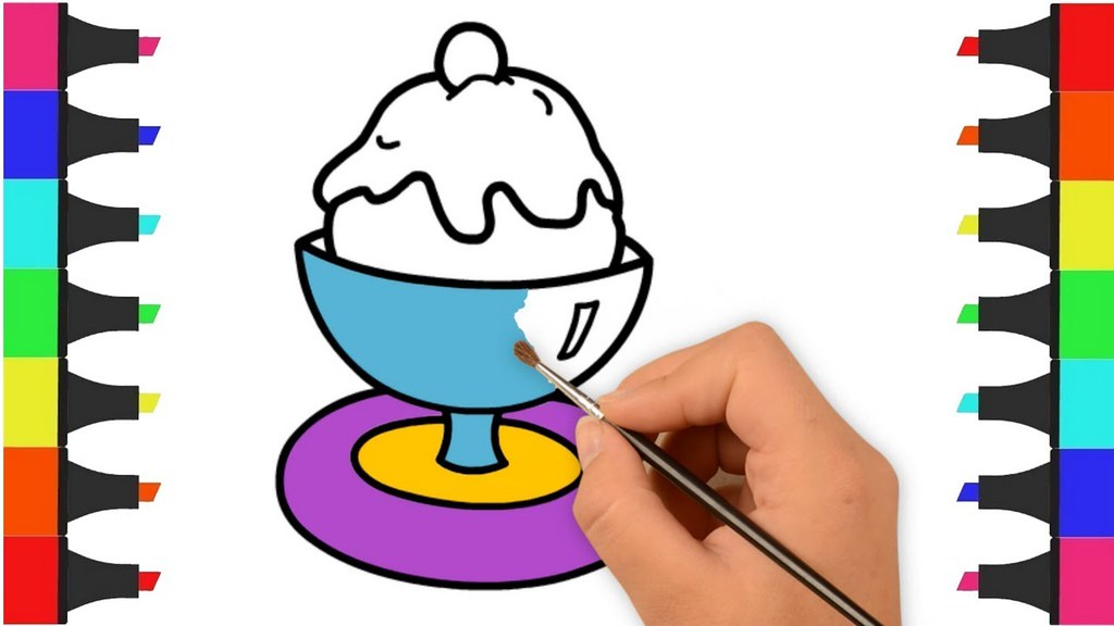 1024x576 Ice Cream Coloring Pages For Kids, Kids Coloring Videos
