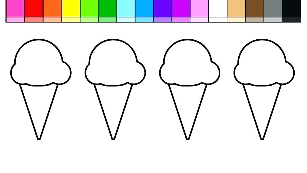 1024x576 ice cream cone coloring sheet ice cream cone coloring pages