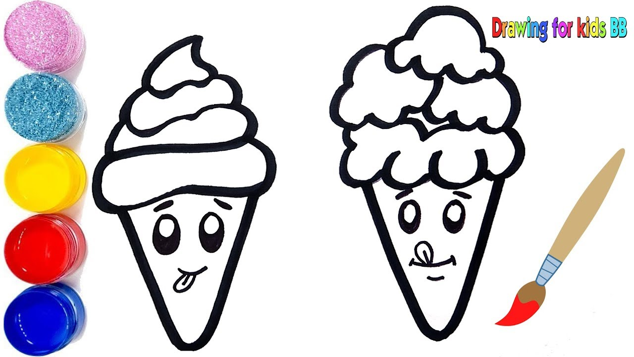 1280x720 Ice Cream Drawing For Kids