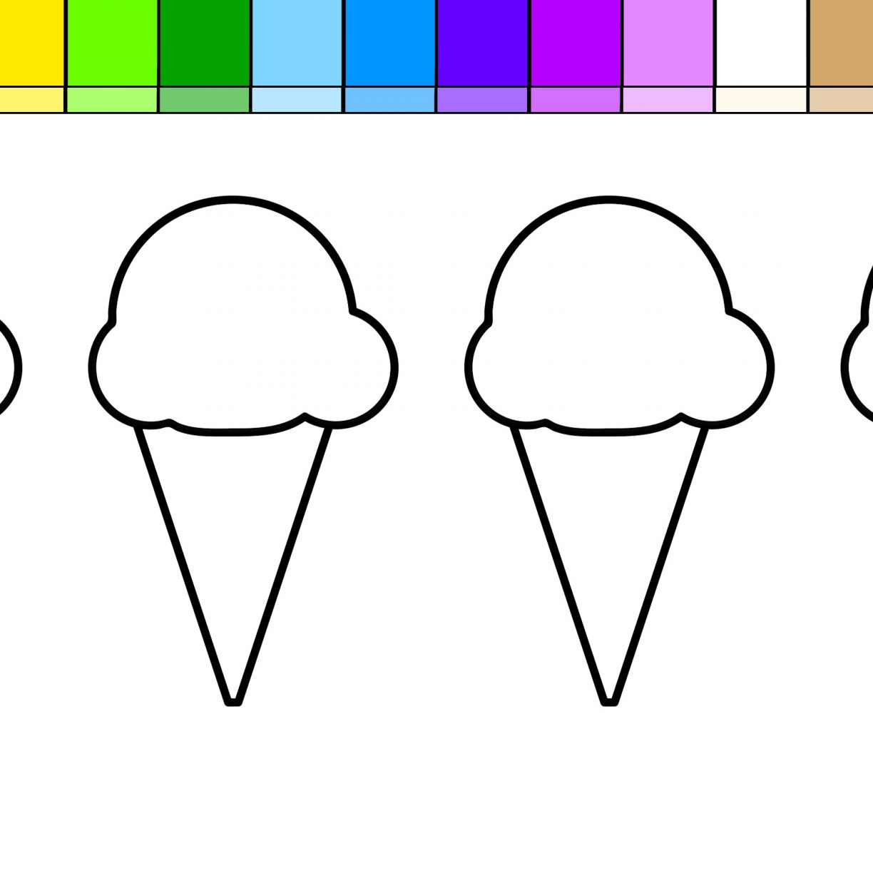 1224x1224 Singular Ice Creaming Pictures Coloring Pages Online Incredible