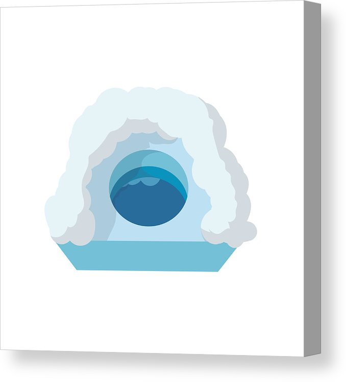 678x750 Hole For Ice Fishing Cartoon Icon Canvas Print Canvas Art