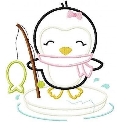400x400 Ice Fishing Penguin