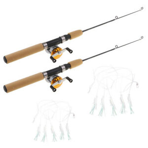300x300 micro spinning rods telescopic winter ice fishing pole reel