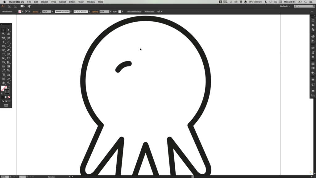 1024x576 Drawing A Vector Octopus Icon In Illustrator