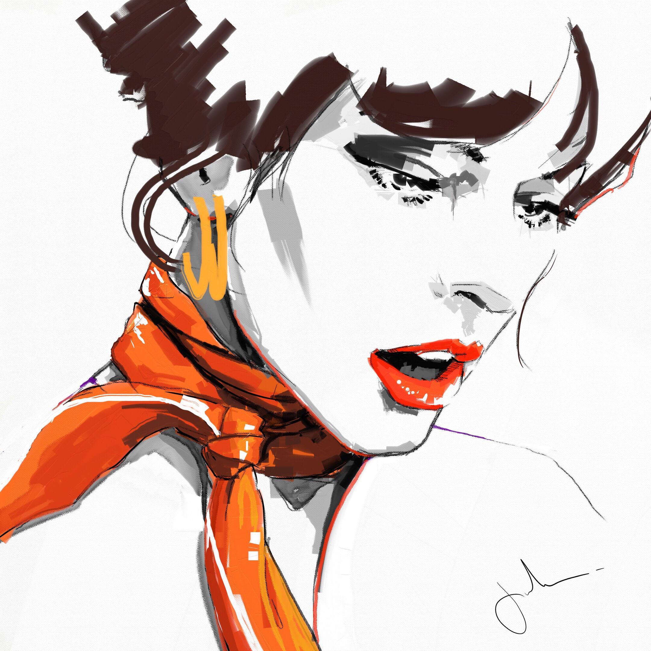 2160x2160 Milla Punksy Artist Painter Illustrator Drawing Millajo