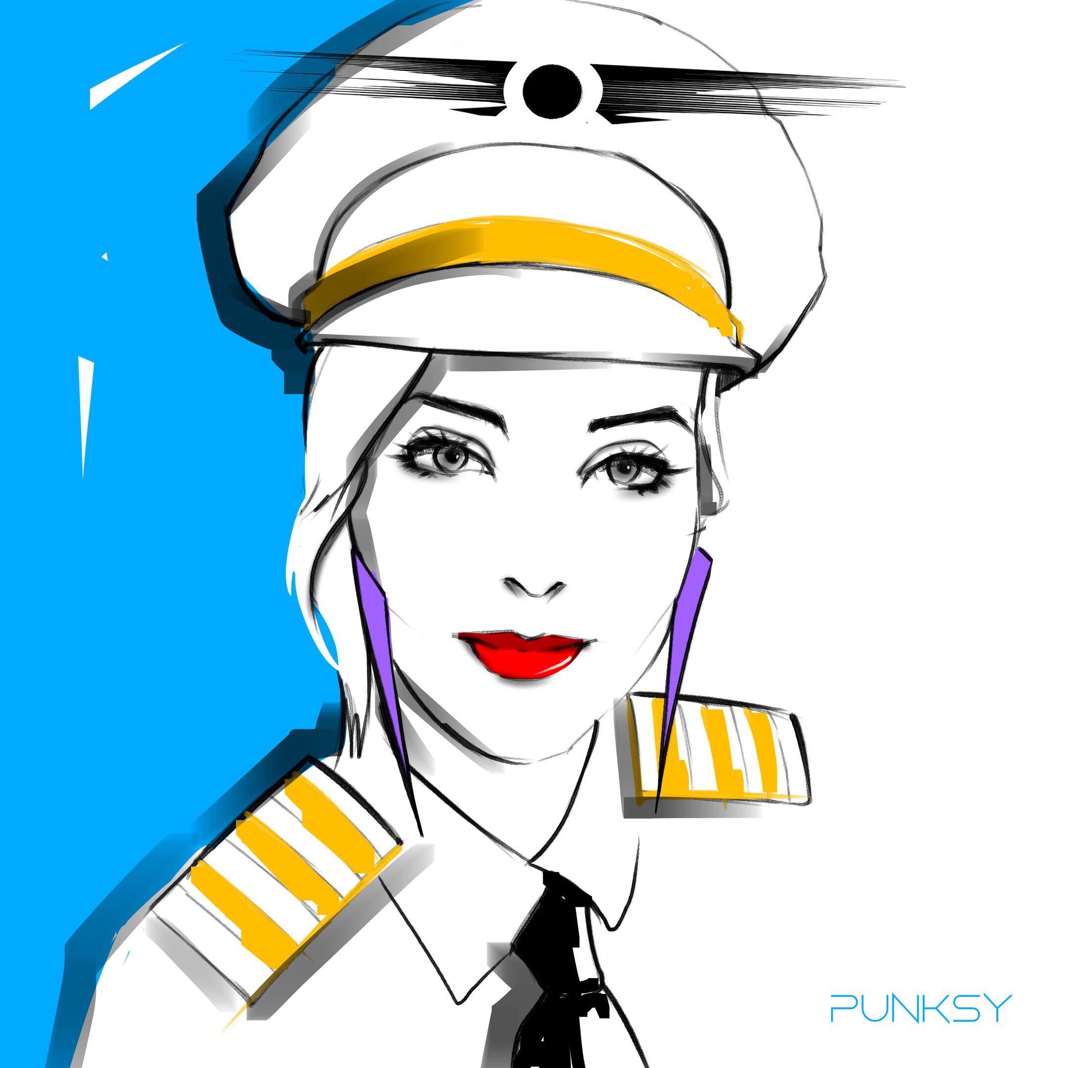 2160x2160 Punksy Artist Painter Illustrator Drawing Artdeco Fashi
